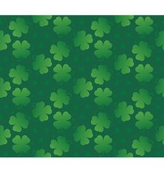 Green seamless clover texture vector image