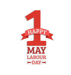Happy may day lettering background labour vector