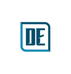 initial letter logo de template design vector image