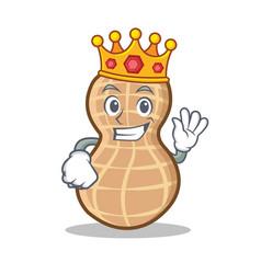 King peanut character cartoon style vector