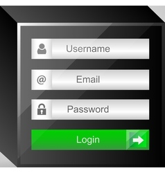 login interface username and password vector image
