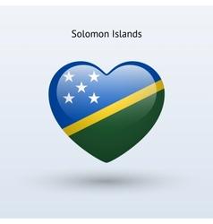 Love Solomon Islands symbol Heart flag icon vector