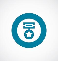 medal icon bold blue circle border vector image