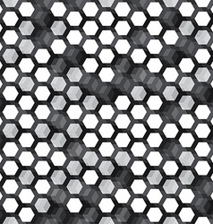 monochrome cell seamless pattern vector image