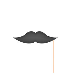 mustache on stick vector image