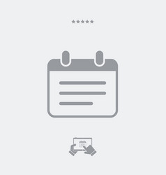Notepad single icon vector