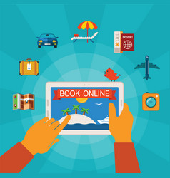online booking concept vector image