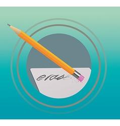 Pencil eraser vector