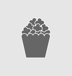 popcorn snack icon vector image