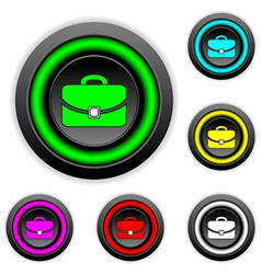 Portfolio buttons set vector image