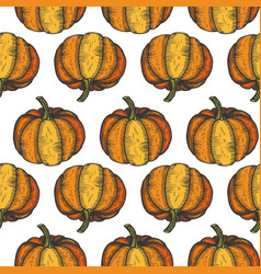 Pumpkin seamless pattern abstract repeated vector