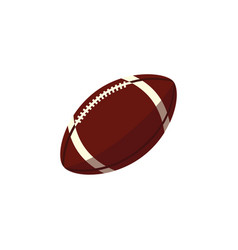 rugby ball sport equipment simple icon vector image