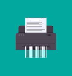 Shredder cutting paper modern device for safe vector
