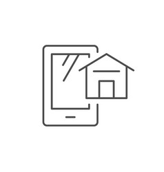 smart home app line outline icon vector image
