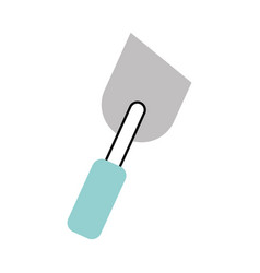 Spatula of construction icon vector