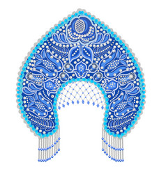 Stock russian national headdress kokoshnik with vector