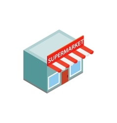 Supermarket building icon isometric 3d style vector image
