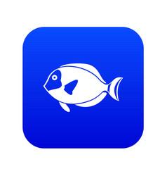 Surgeon fish icon digital blue vector