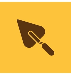 The trowel icon Mason and building repair vector image