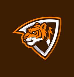 Tiger head logo for sport club or team animal vector