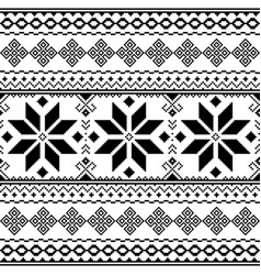 traditional folk black embroidery pattern from ukr vector image