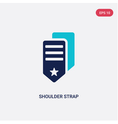 Two color shoulder strap icon from army and war vector