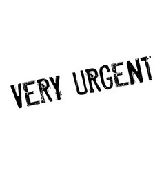 very urgent rubber stamp vector image