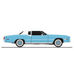 vintage coupe car vector image