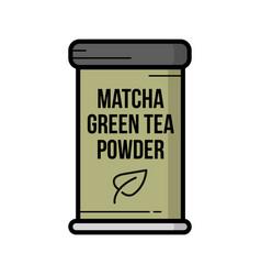 Vintage hand drawn matcha green tea vector