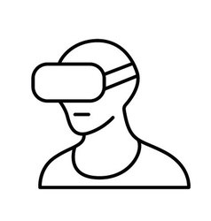 virtual reality headset VR glasses line icon vector image