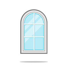 Window icon isolated on white sign symbol vector
