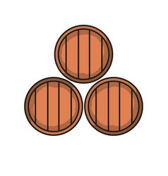 wine cellar icon barrel icons vector image