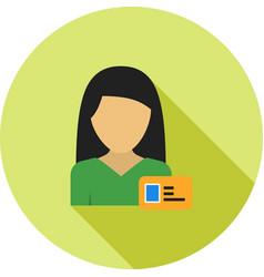 Woman id card vector