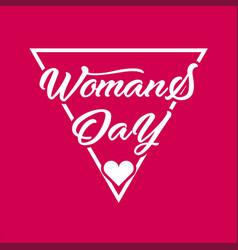 Women day modern design typo vector