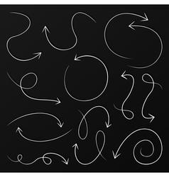 Arrow drawing6 vector image vector image