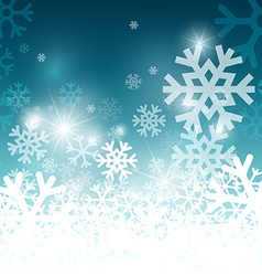 Snowflakes on Blue Background Christmas Pattern vector image vector image