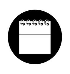 Calendar date isolated icon vector