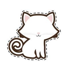 cat breed animal mammal cut line vector image vector image