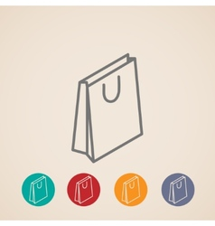 isometric shopping bag icons vector image vector image