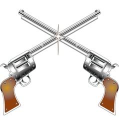 Six Shooters logo vector image vector image