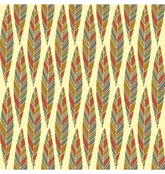 Vintage abstract autumn seamless leaves pattern vector image