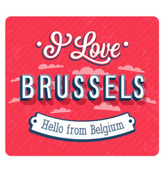 vintage greeting card from brussels vector image vector image