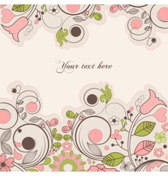 beautiful summer floral frame vector image vector image