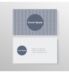 Business card template with ropes and knots vector image