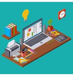 Creative process web design vector image
