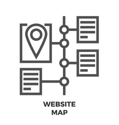 Website map line icon vector