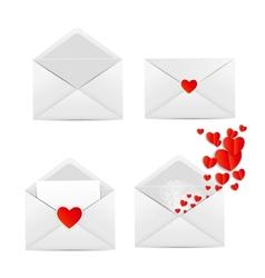White Envelope Icon vector image