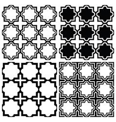 Arabic seamless pattern set - islamic design vector