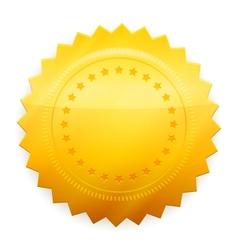 Blank guarantee certificate vector image vector image