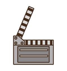 cartoon film clapper vector image